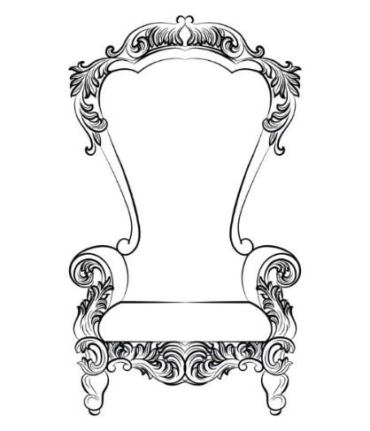 Rococo Chair Back