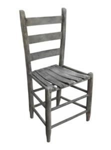 waved slat ladderback chair