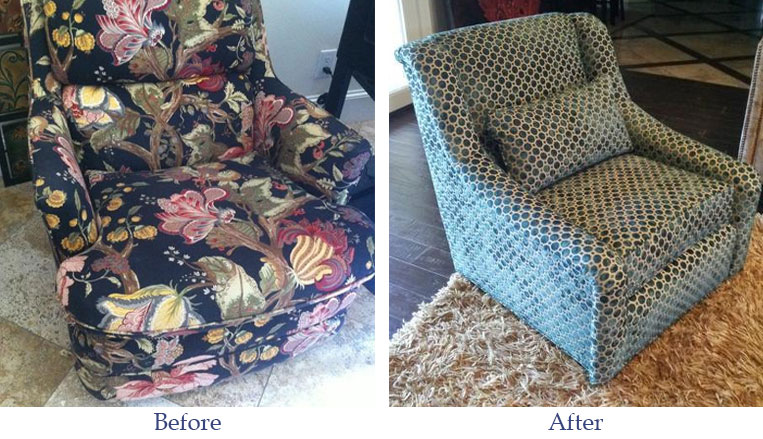 before-after-furniture-arm-chair-floral-dots